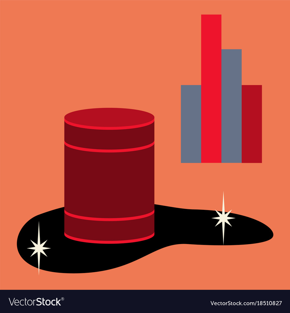 Flat icon on theme arabic business oil chart