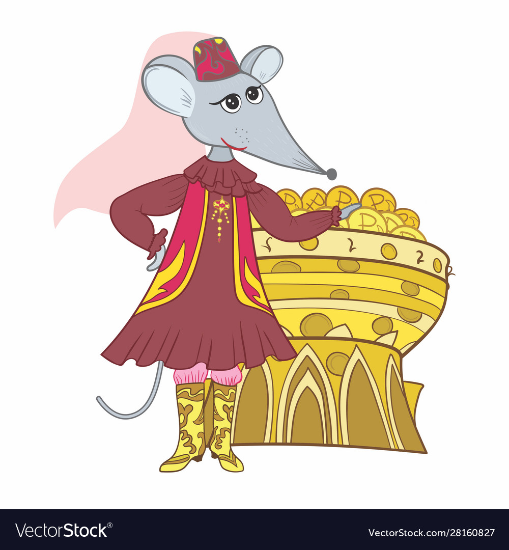 Funny tatar muslim mouse sketc