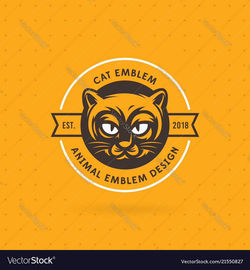 Logo and label cat head