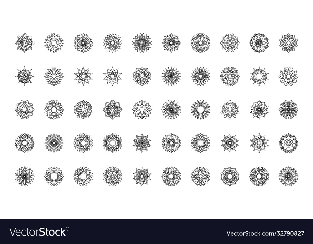 Mandala decoration ornament flower motif ethnic