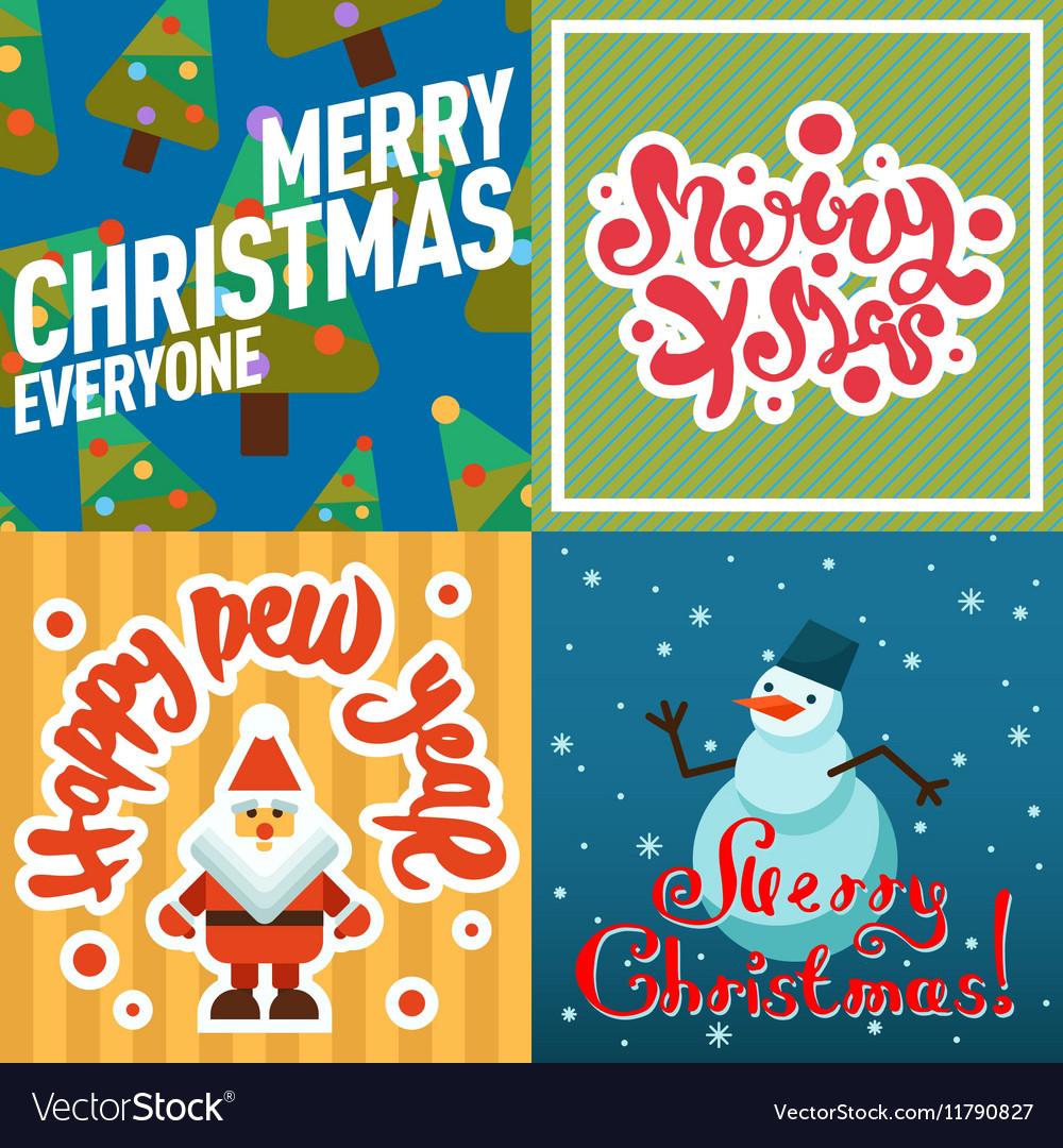 Mery Christmas greeting card design