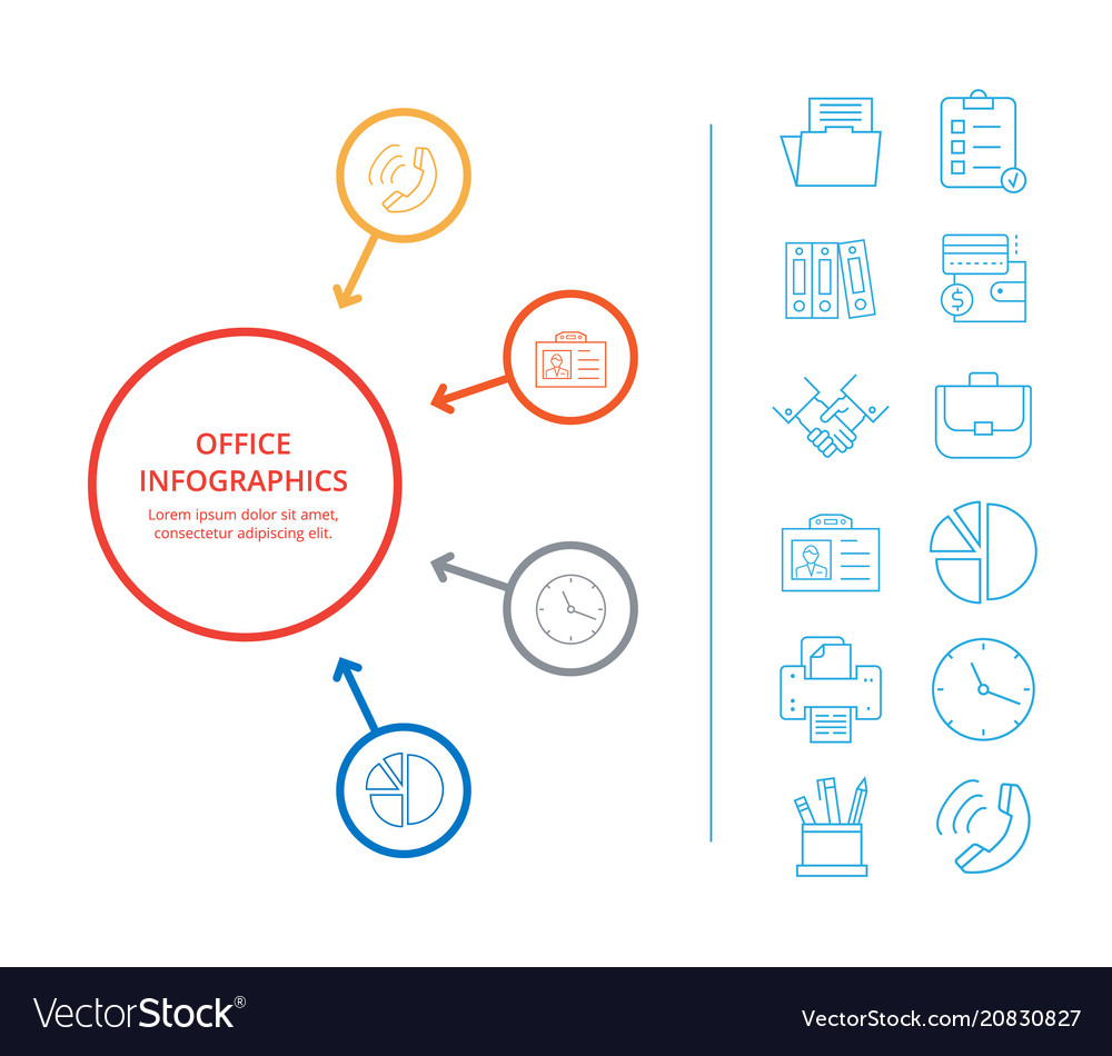 Office infographics business income icon analysis