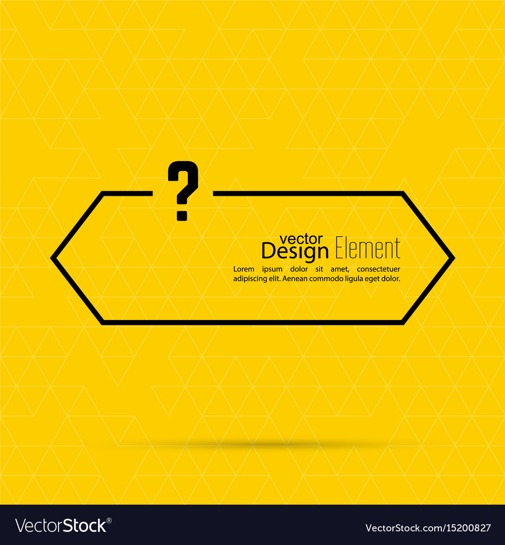 question mark blank template royalty free vector image