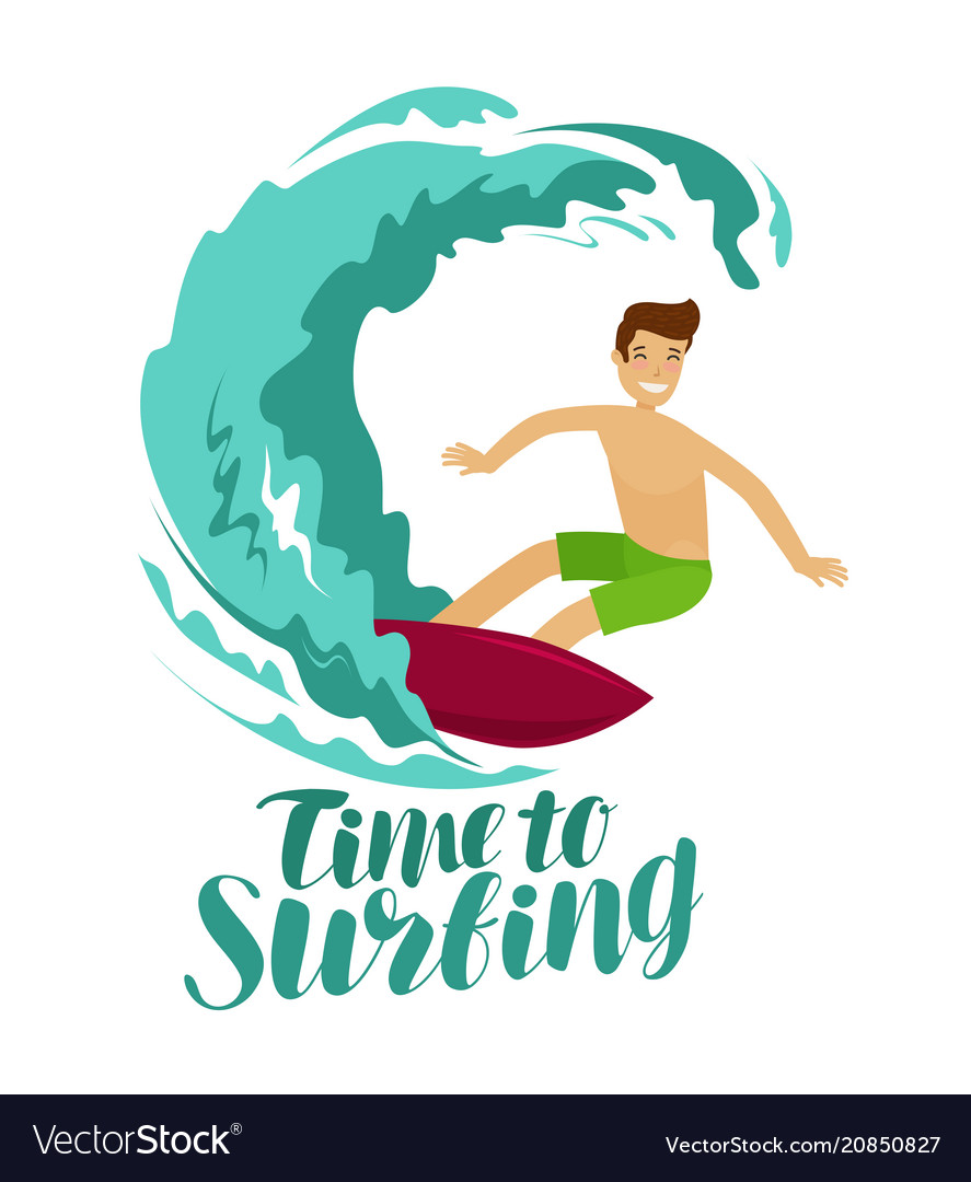 Surfer and big wave surfing