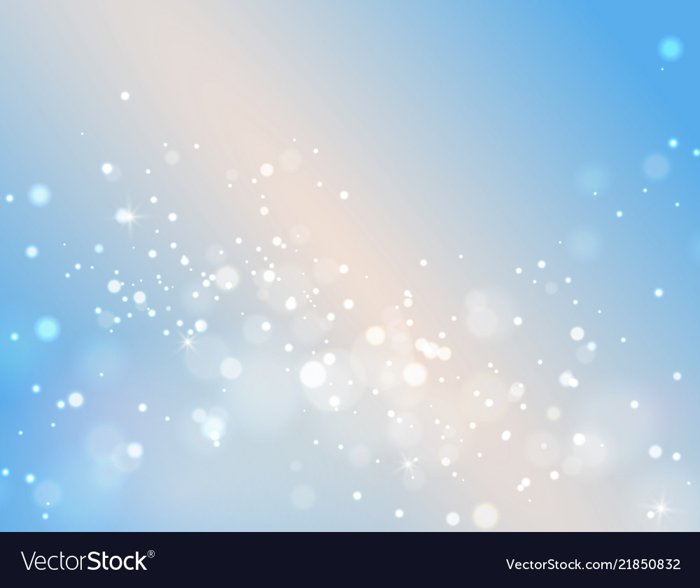 Abstract blue bokeh background light effect