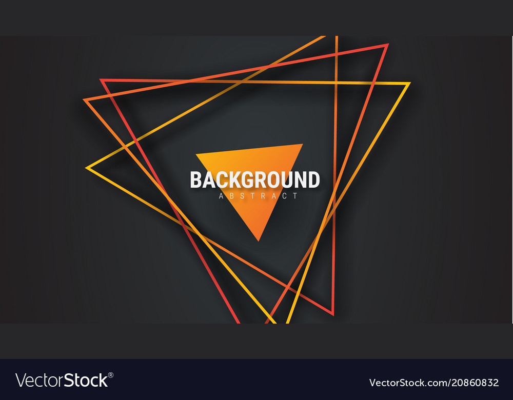 Design of black abstract background with orange