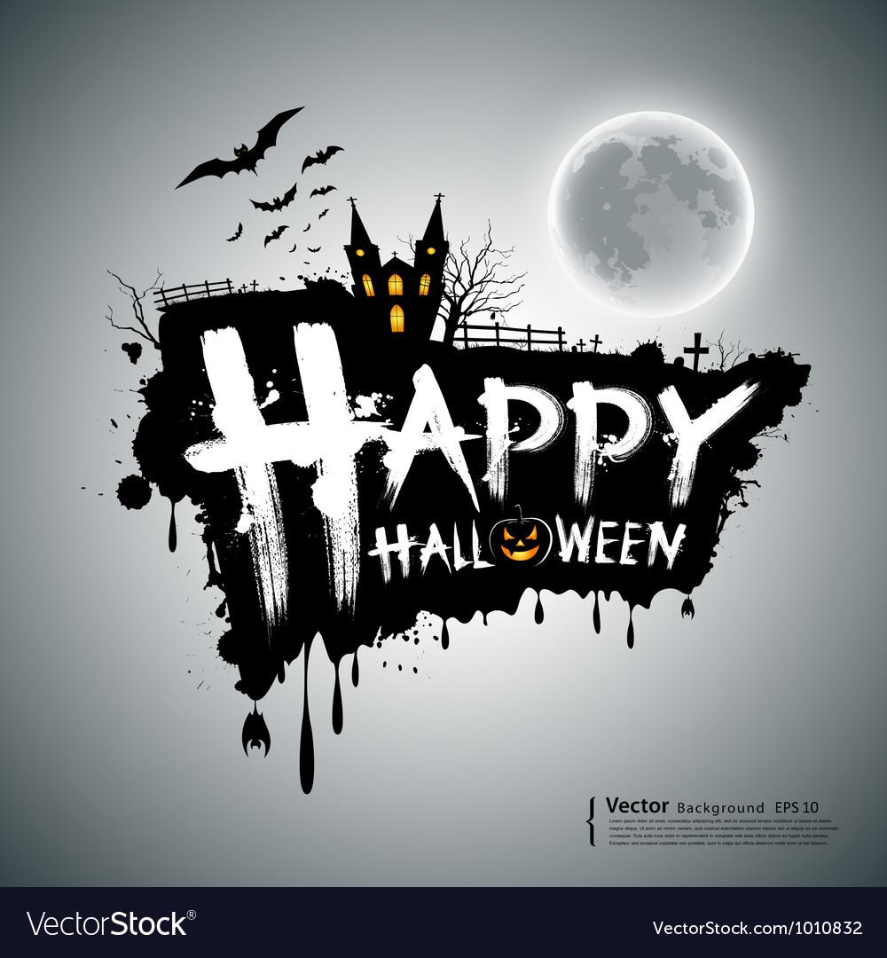 Happy Halloween message design