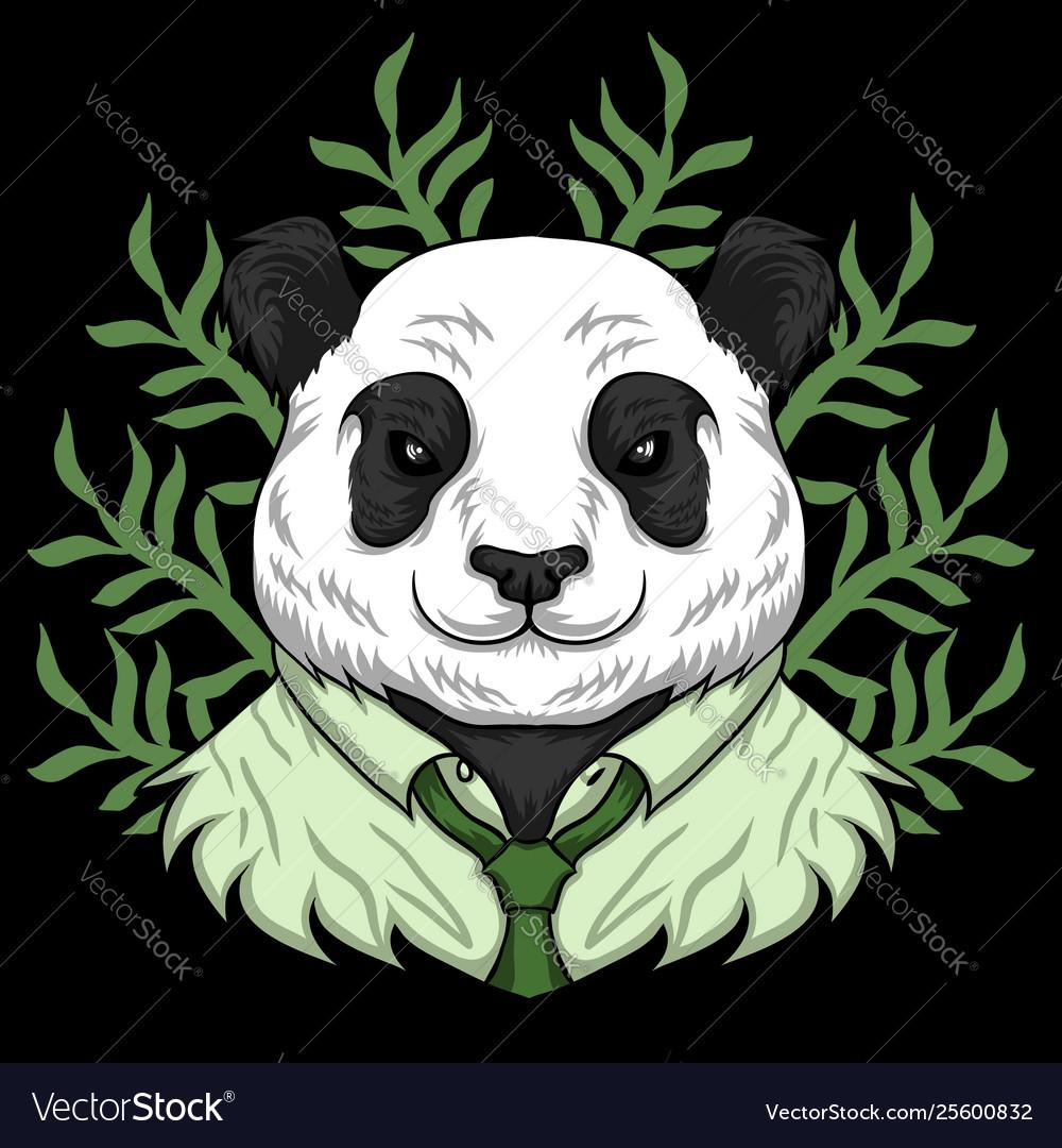 Panda work cartoon