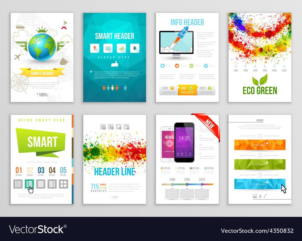 Set of Flyer Brochure Background Banner Designs