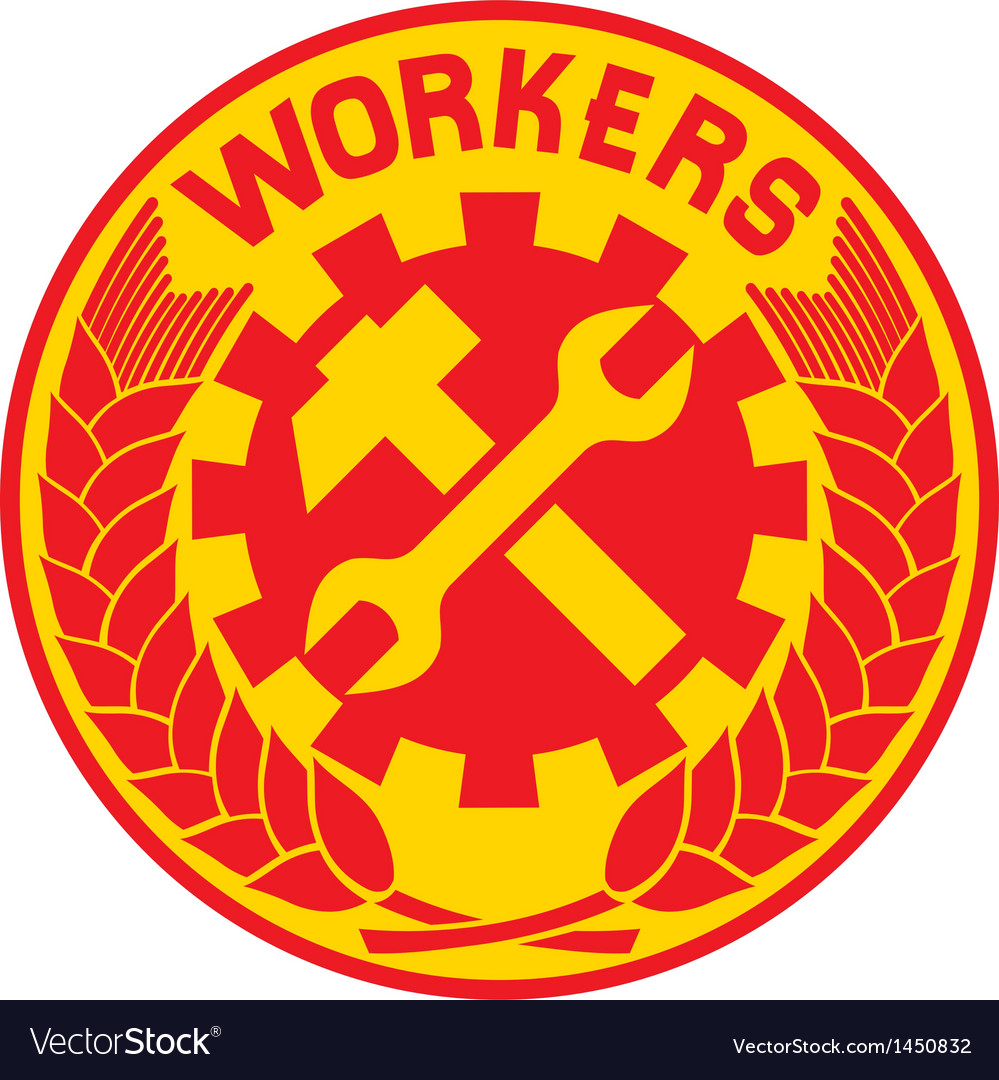 Worker sign vector image