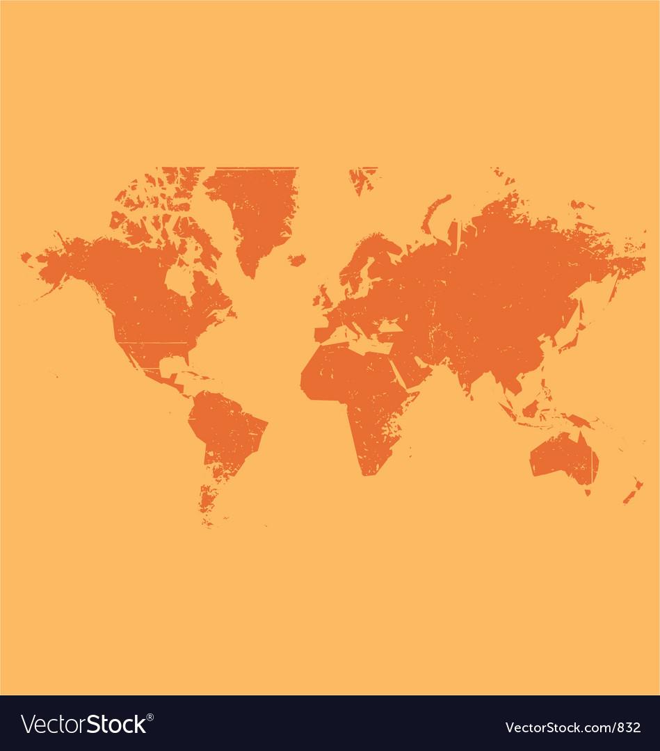 World map grunge