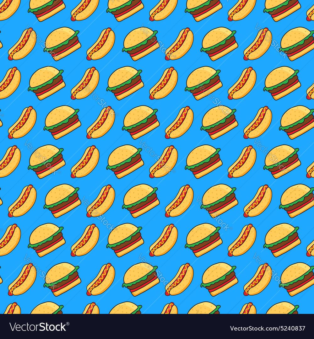 Burger and hot dog pattern