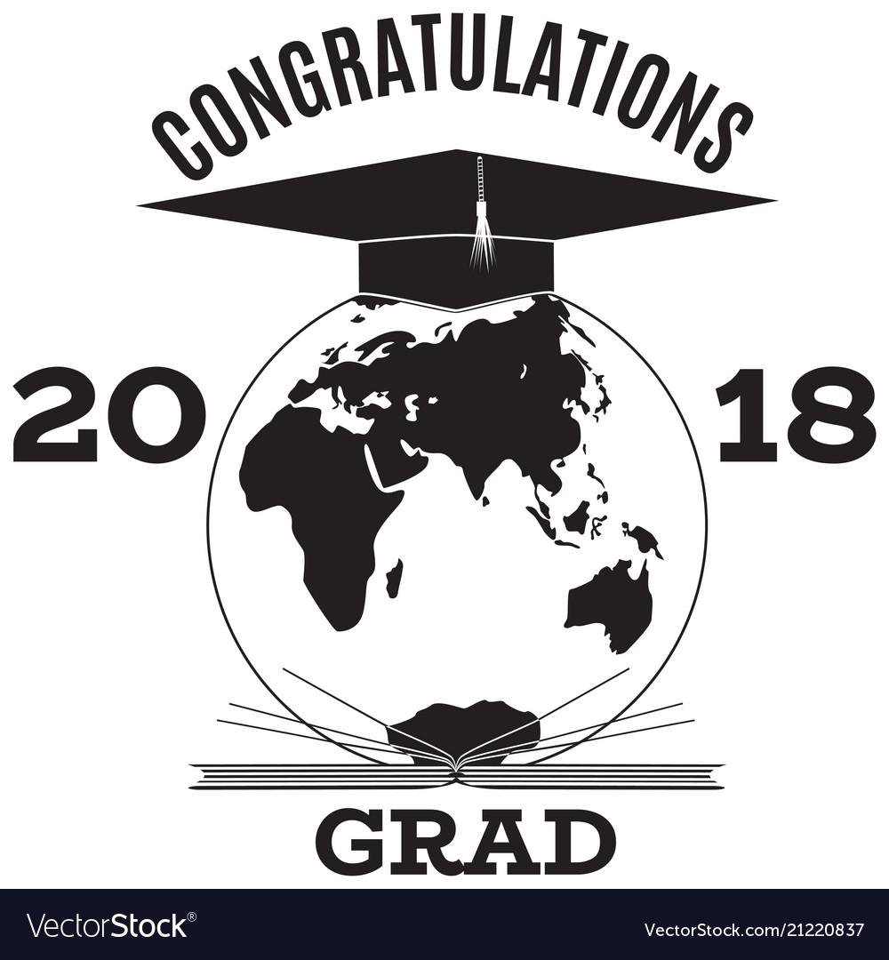 Congratulations grad emblem badge template