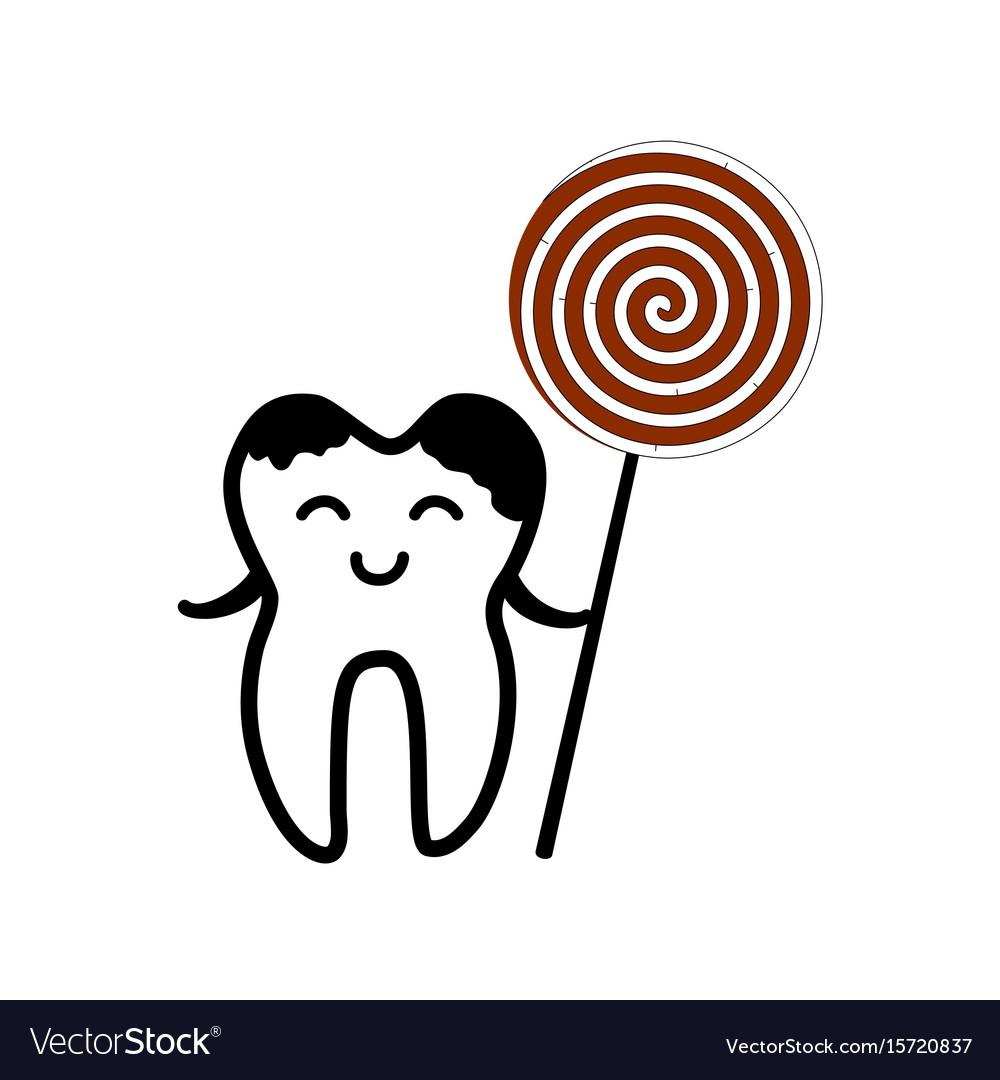 Happy tooth icon vector image