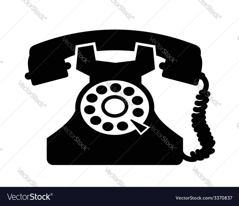 Telephone icon vector image