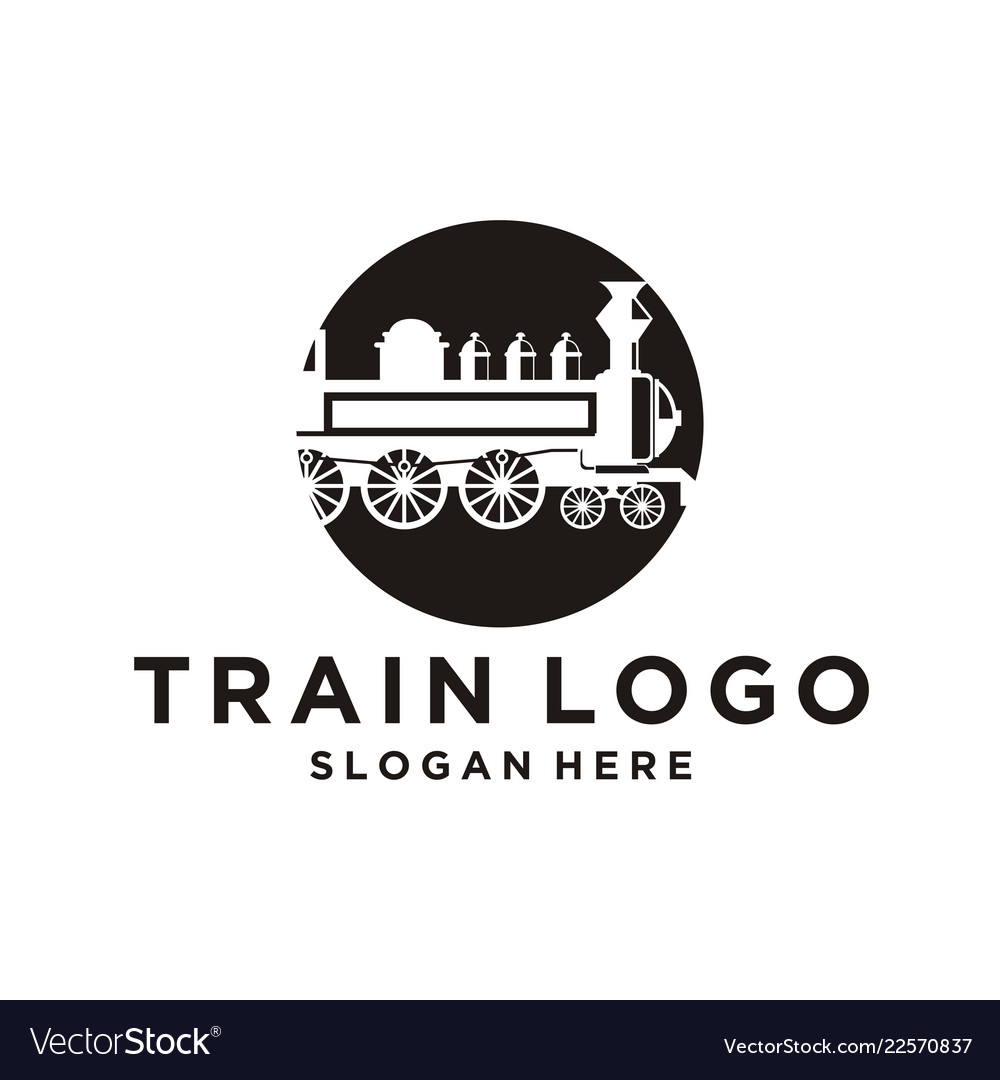 Train Logo Design Inspiration Royalty Free Vector Image