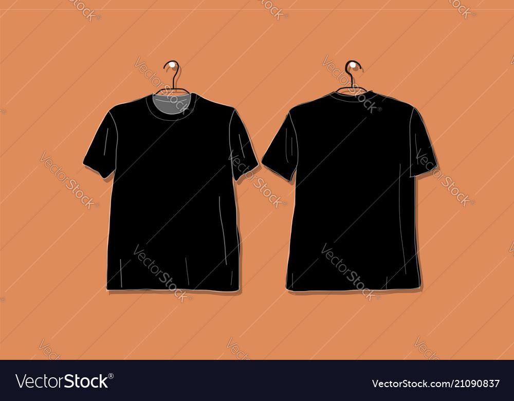 Tshirt Black Mockup For Your Design Royalty Free Vector
