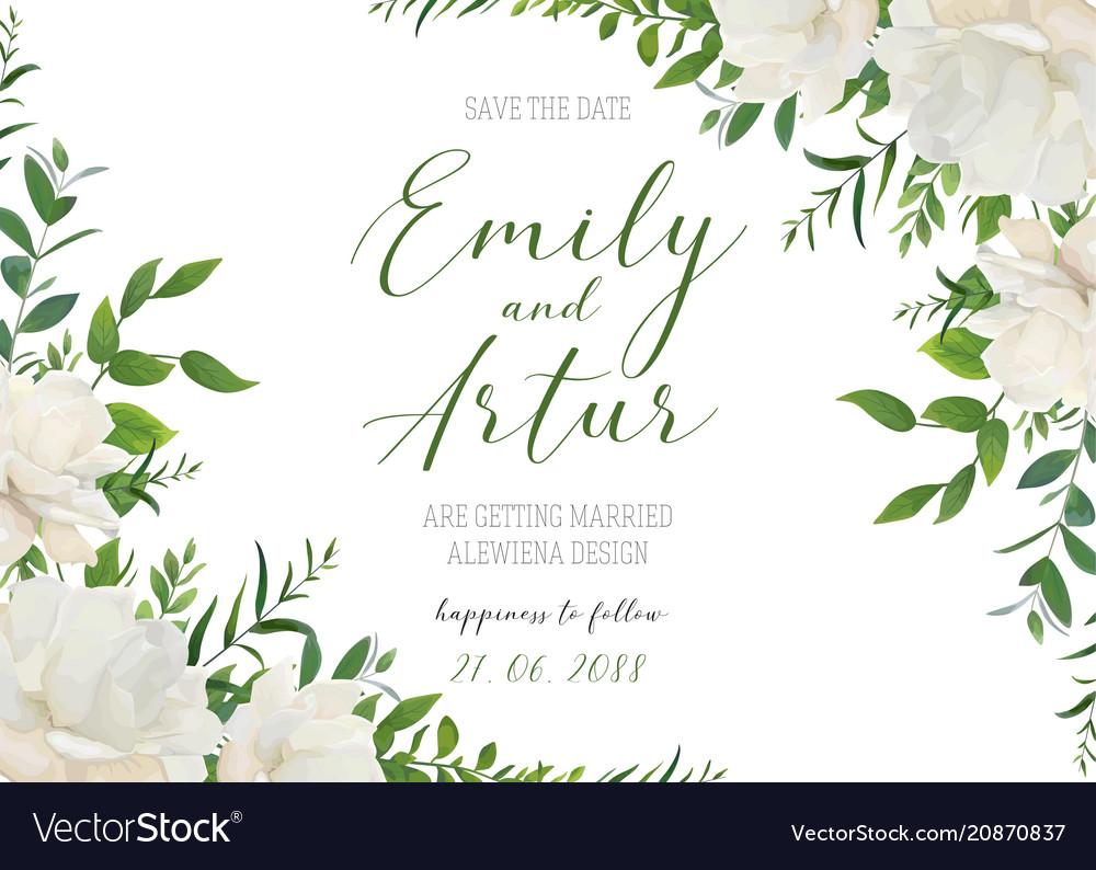 Wedding floral invite save date card design
