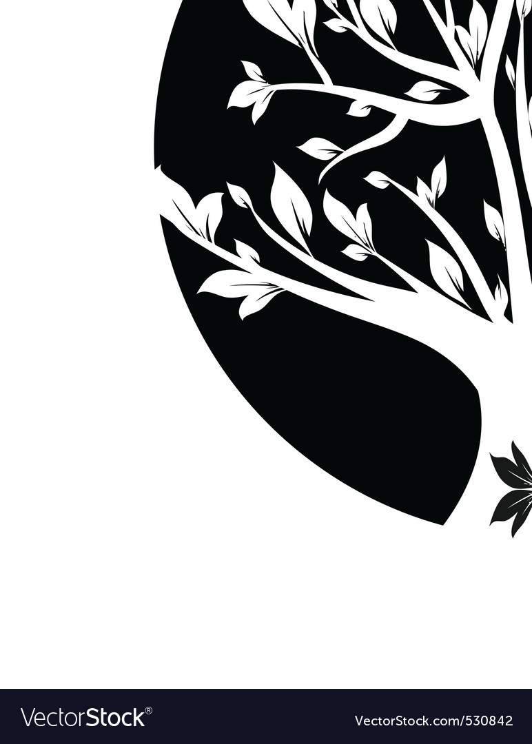 Abstract Black Art Tree Closeup Royalty Free Vector Image