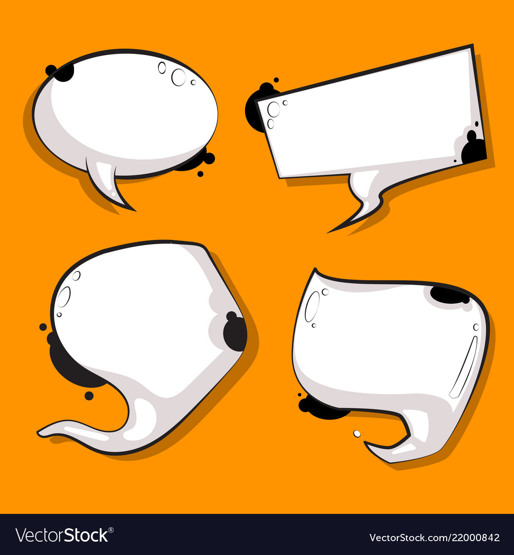 Abstract speech bubbles set white cow texture