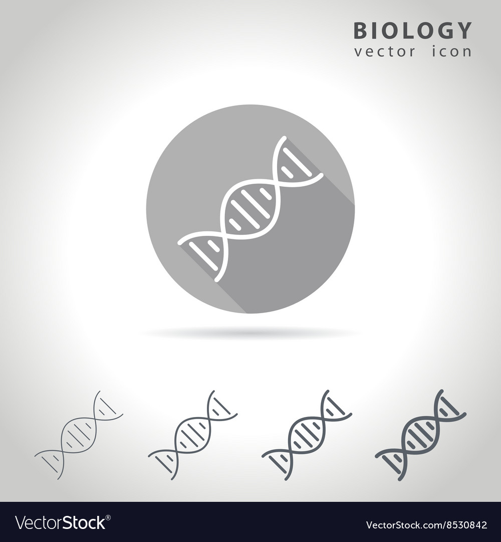 Biology outline icon vector image