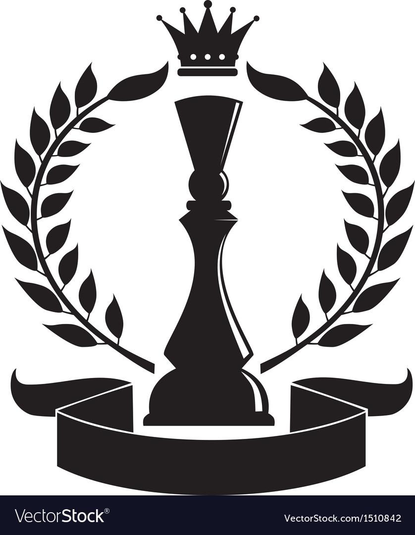 Chess queen vector image