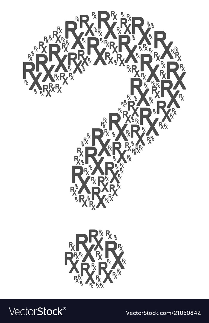 Faq Collage Of Rx Medical Symbol Icons Royalty Free Vector