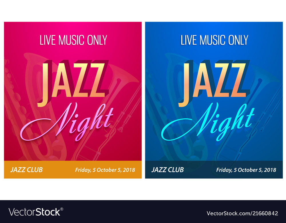 Flyer for jazz night party - banner template for
