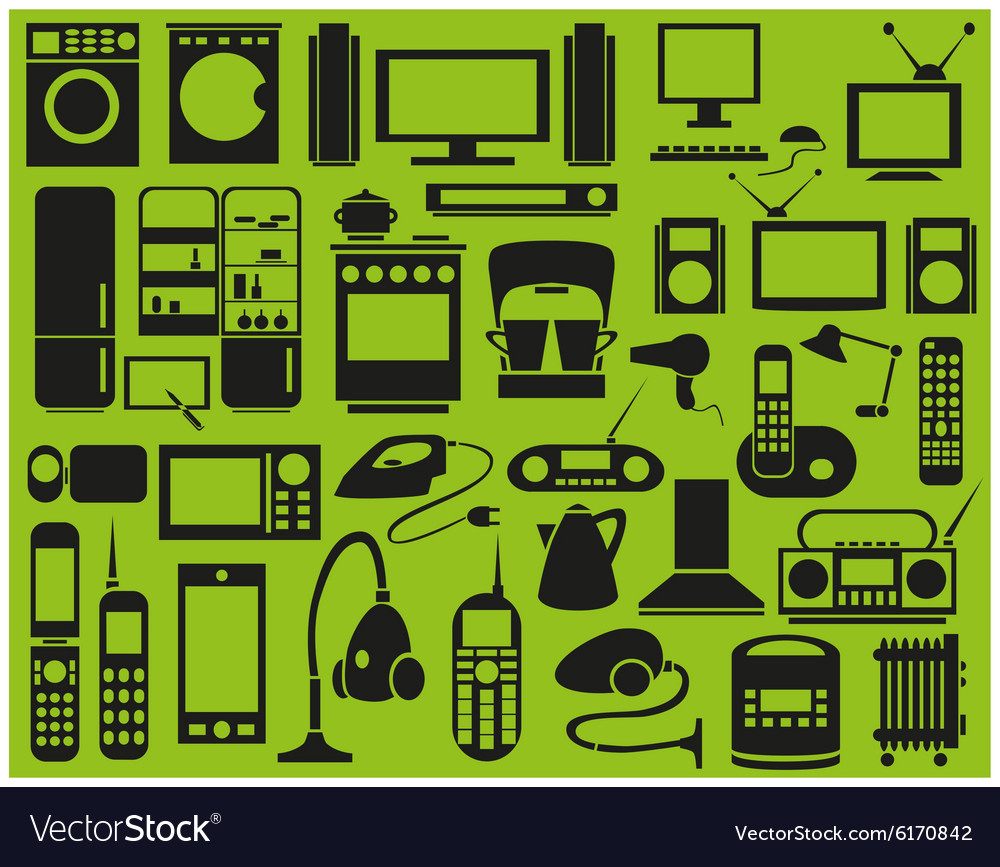 Icons Appliances vector image