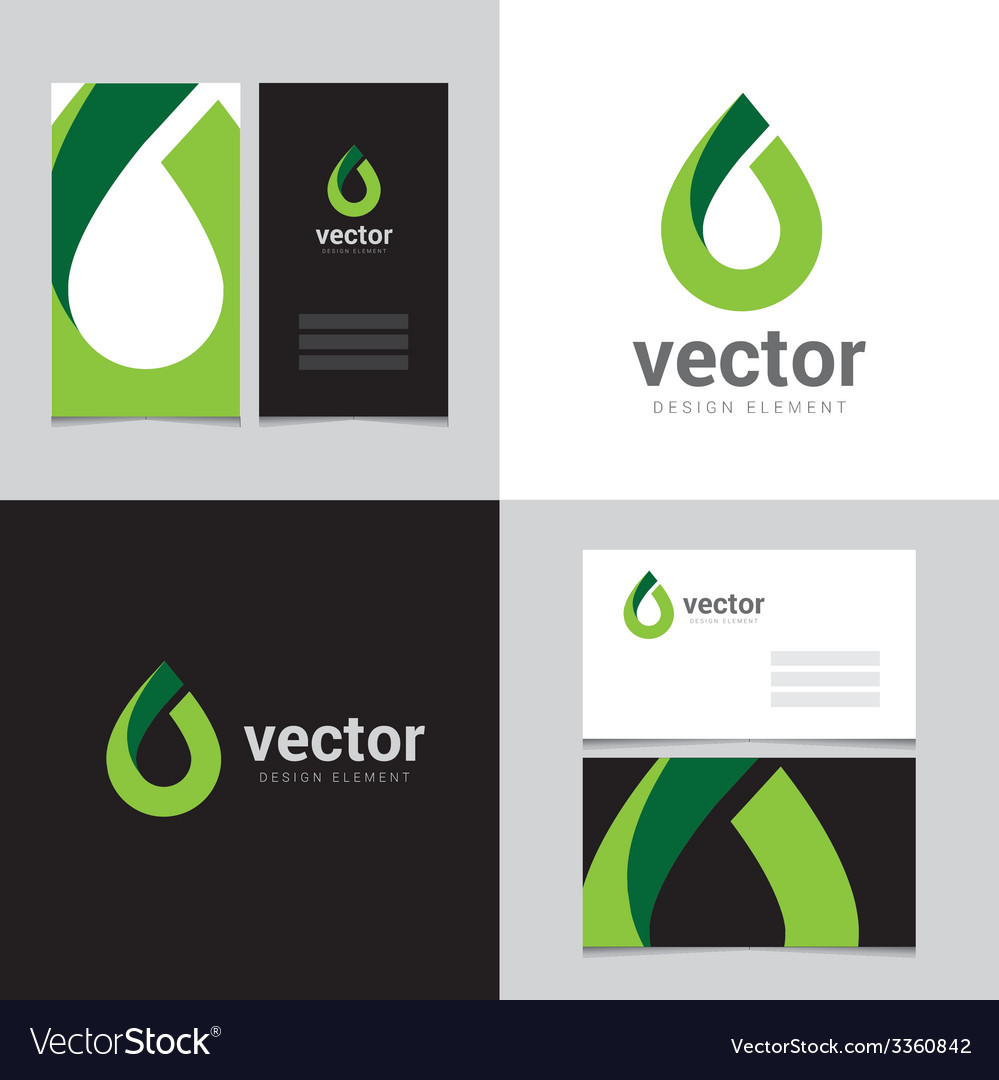 Logo design element with two business cards - 13 vector image