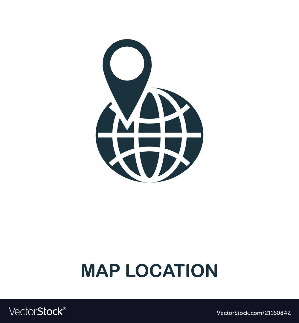 Map location icon mobile app printing web site