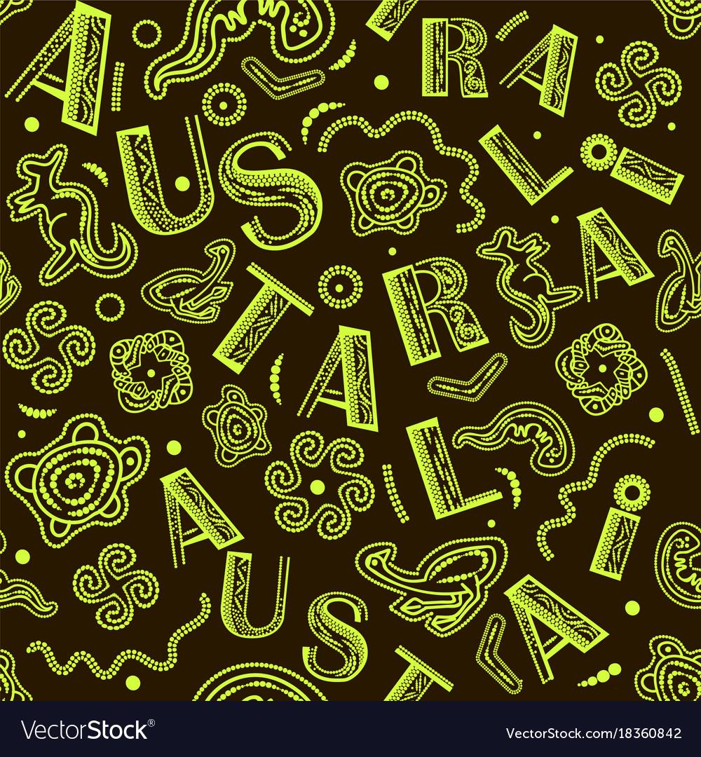 Seamless pattern - australian aboriginal