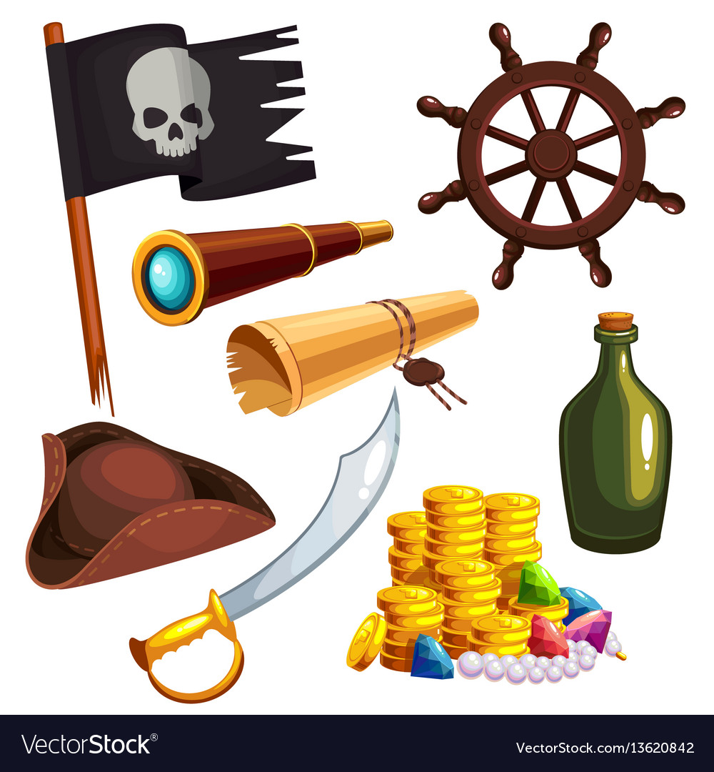 Set of pirate elements