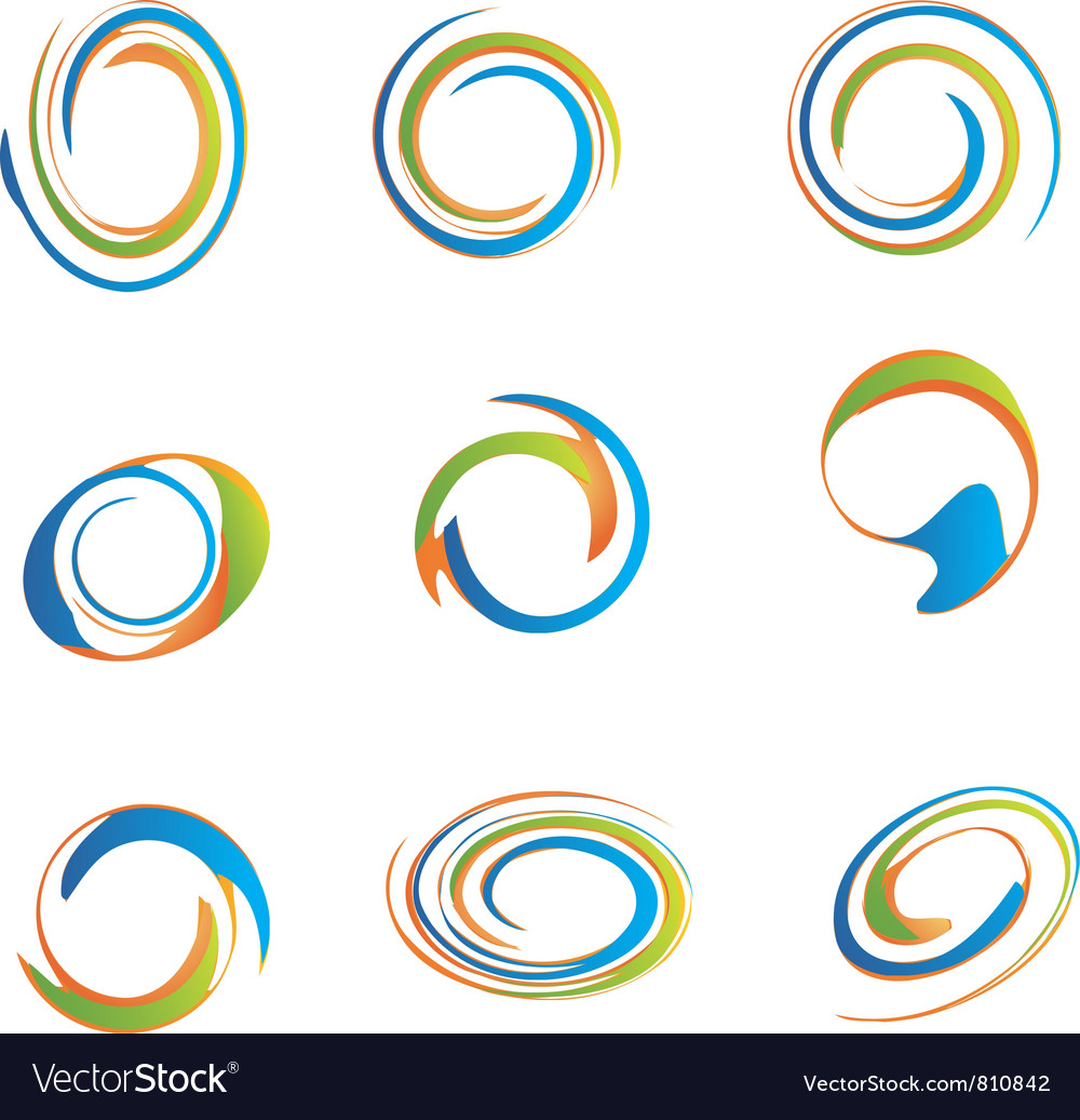 set of swirls royalty free vector image vectorstock rh vectorstock com swirls vector png swirl vector art