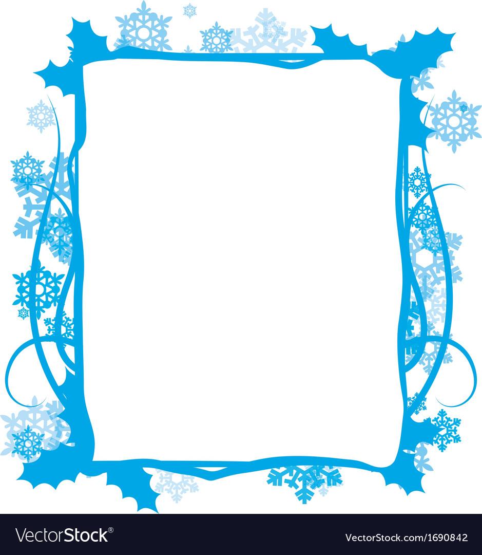 Winter floral frame Royalty Free Vector Image - VectorStock