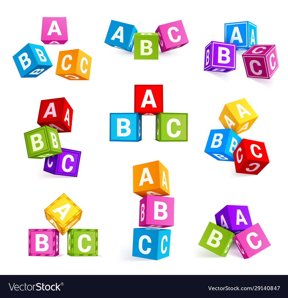 Childish alphabetical cubes educational toys
