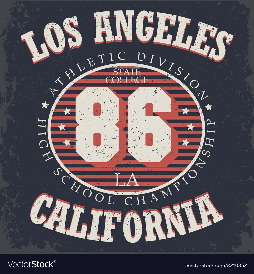 Athletics typography t-shirt graphics