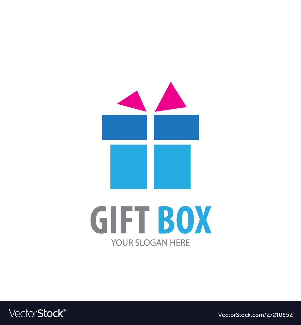 Gift box logo for business company simple