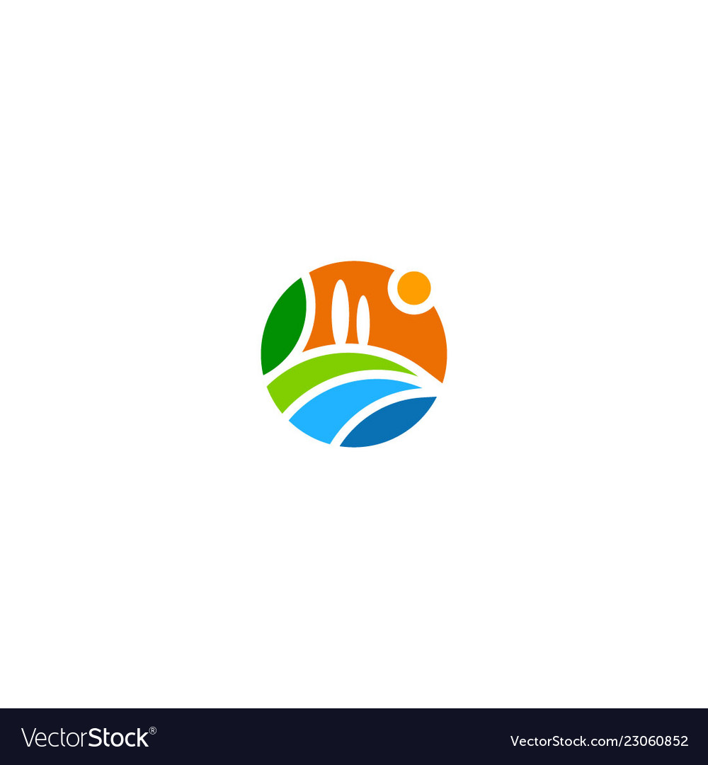 Landscape nature abstract logo