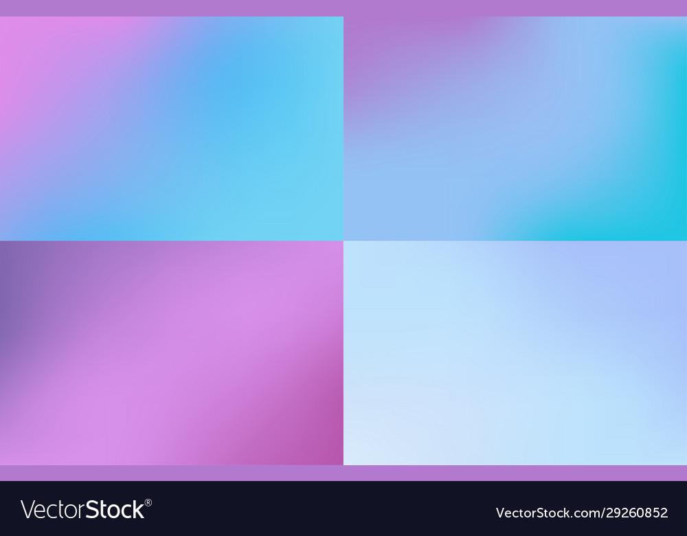 Pastel mesh blurred background set foil