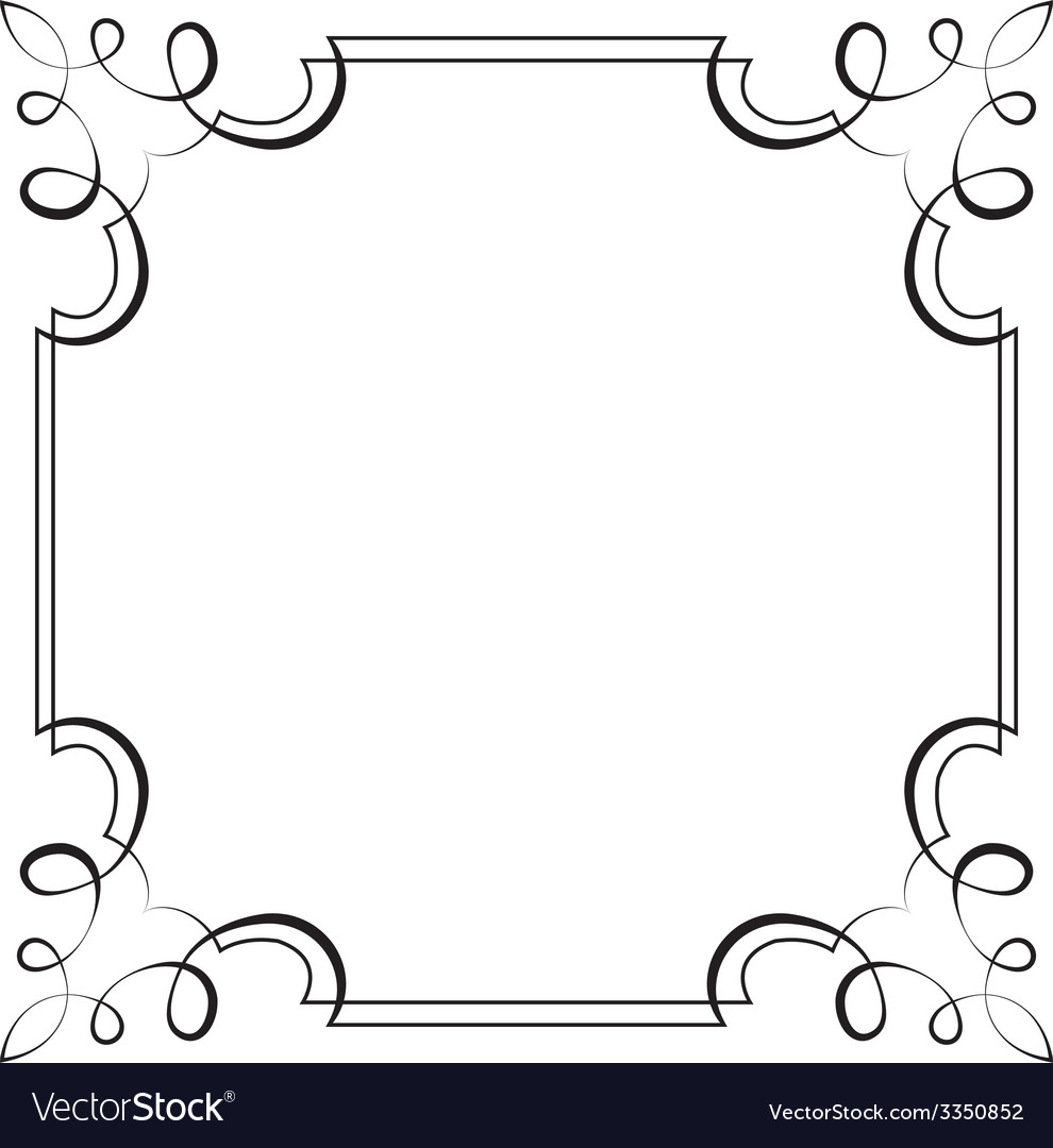 Square frame Element for design