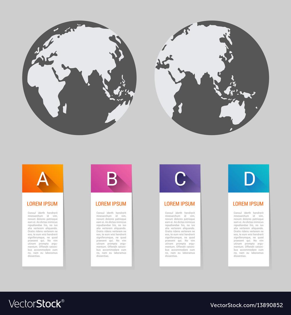 World map pointer marks icon flat web sign symbol