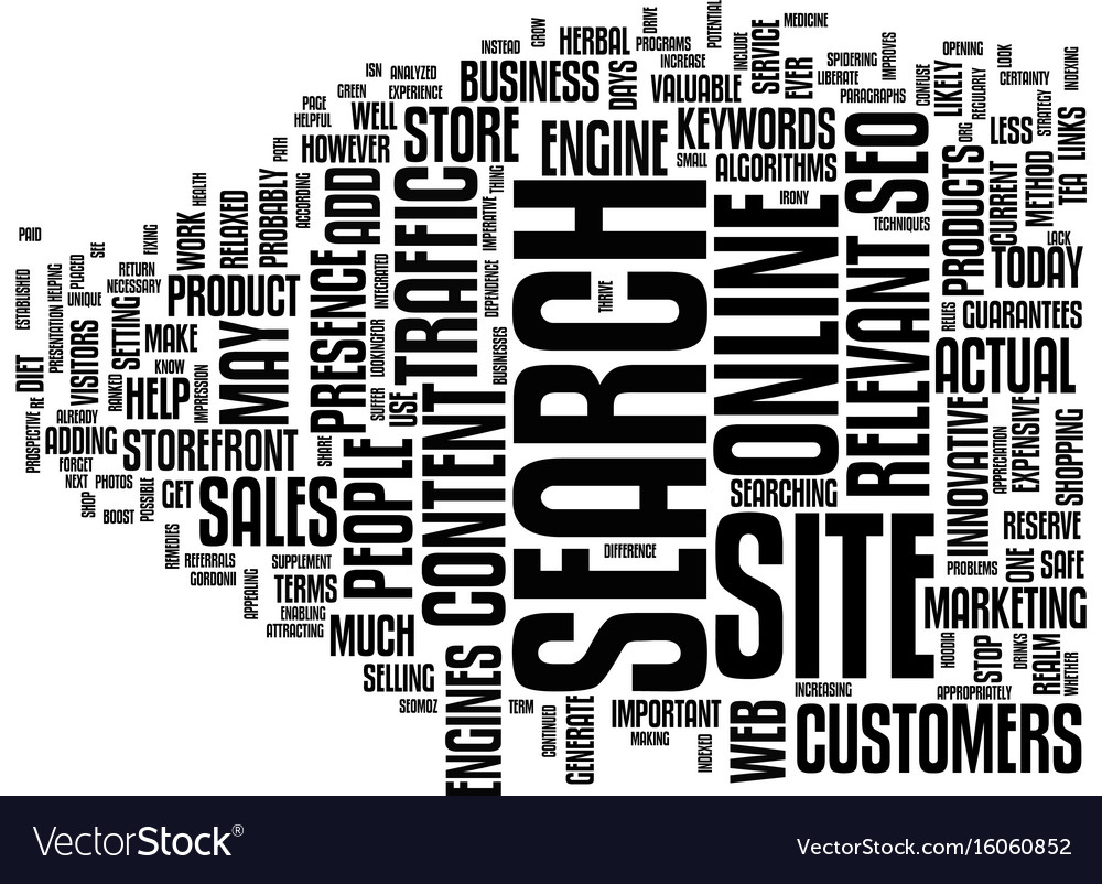 Your online business can grow with seo text vector image