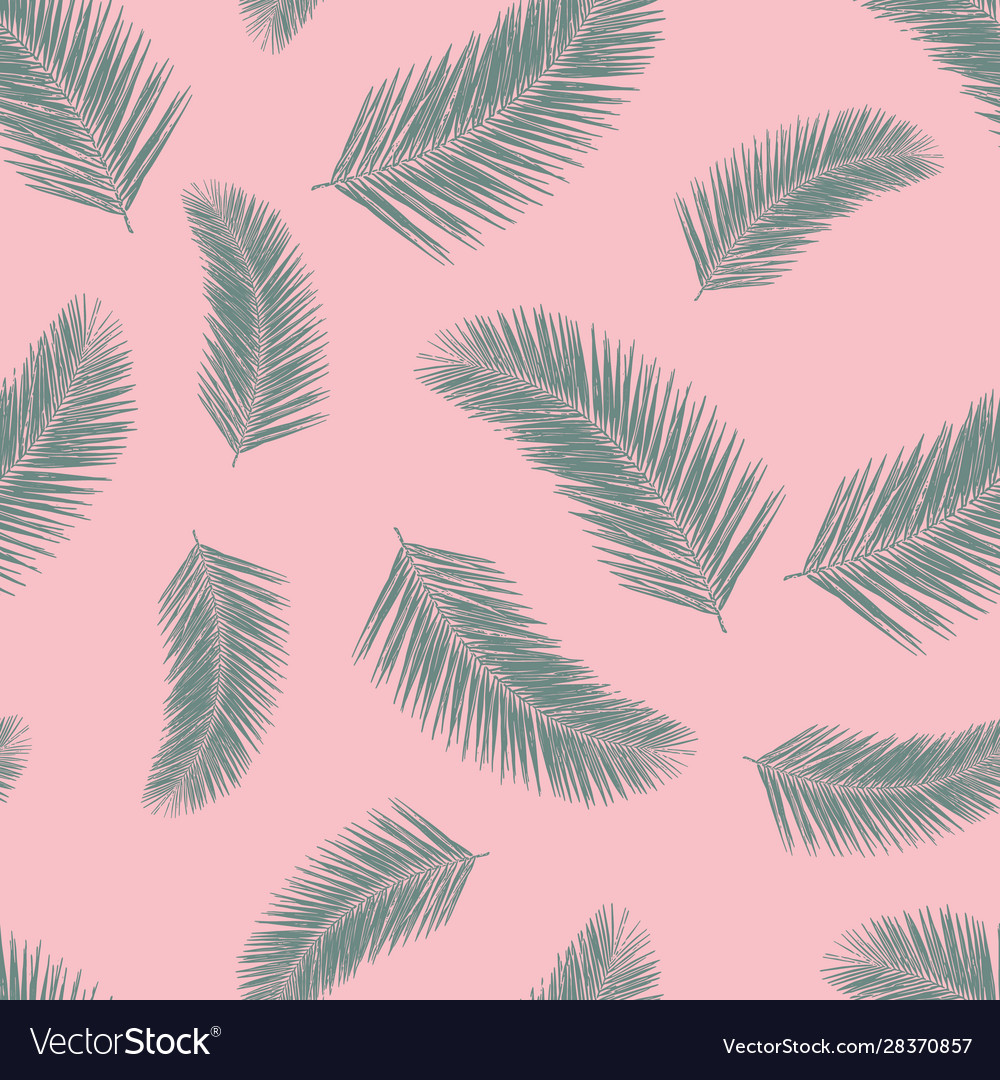 Abstract exotic palm leaf plants seamless