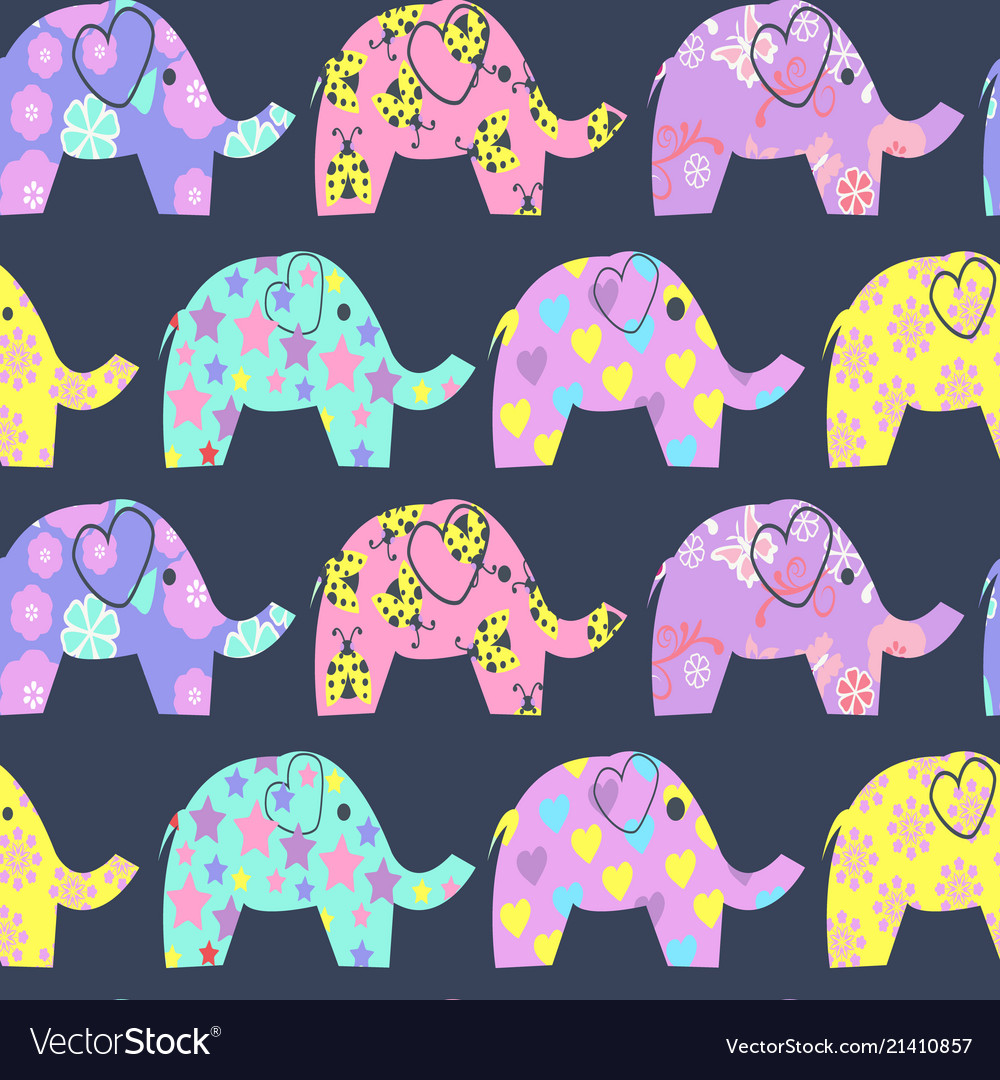 Cheerful seamless pattern with colorful cute