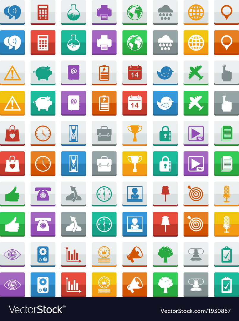 Communication media icons vector image