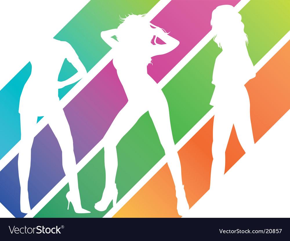 Girls vector image