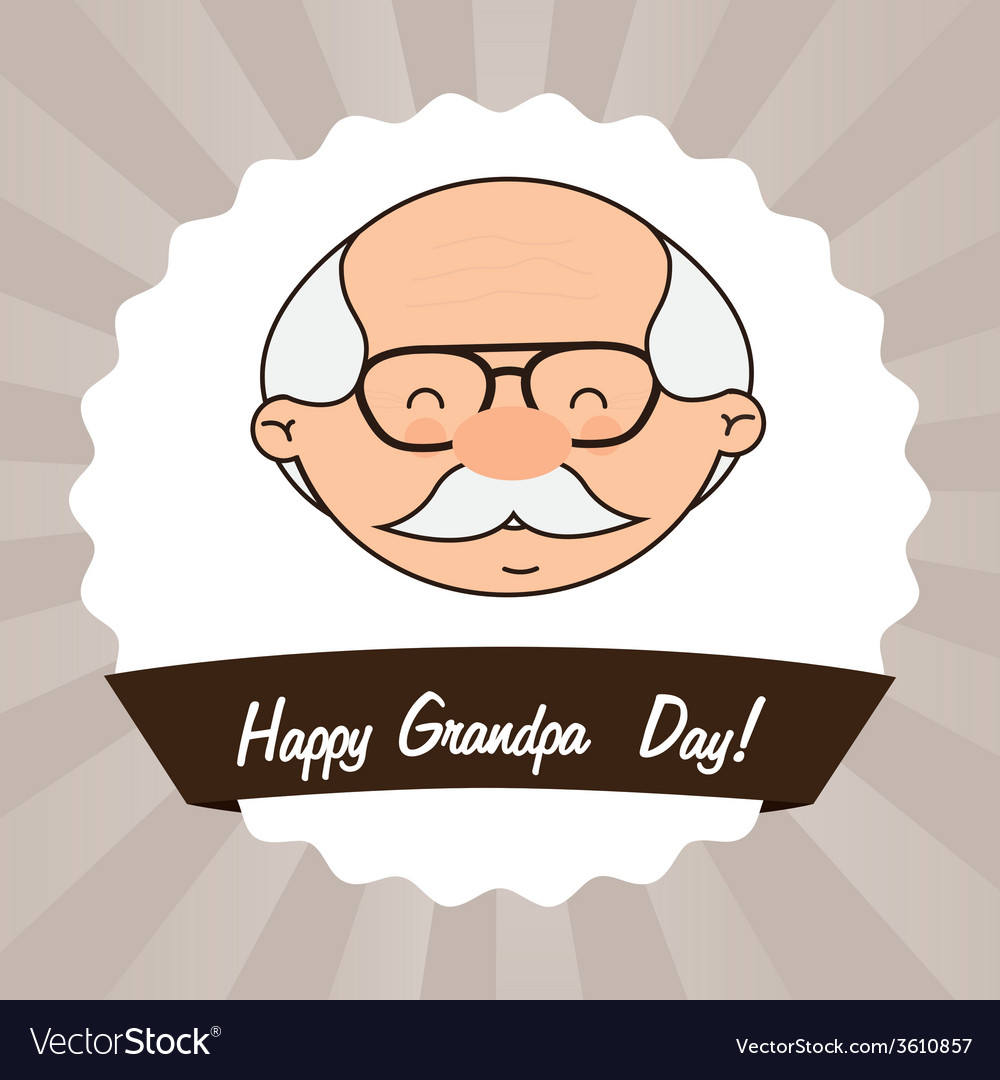 grandfathers day royalty free vector image vectorstock