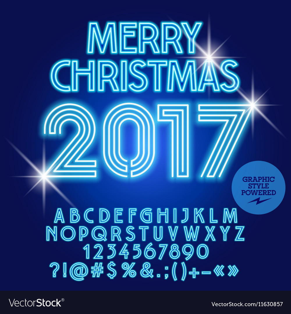 Modern Light Up Merry Christmas 2017 Greeting Card