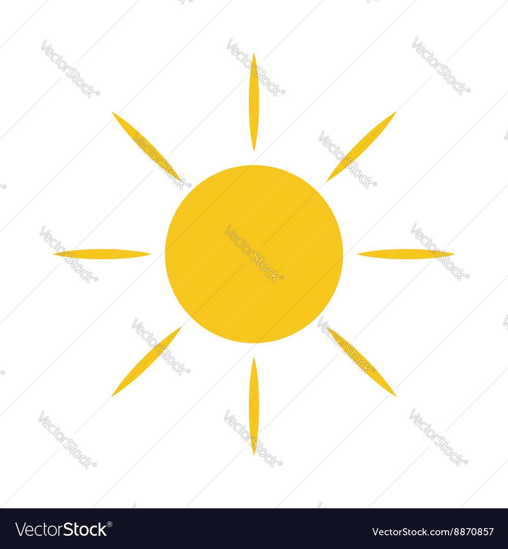 Sun icon Light sign yellow